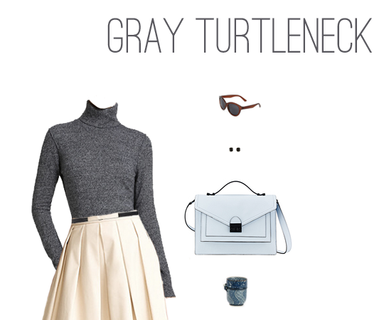 What to Wear: Gray Turtleneck Two Ways