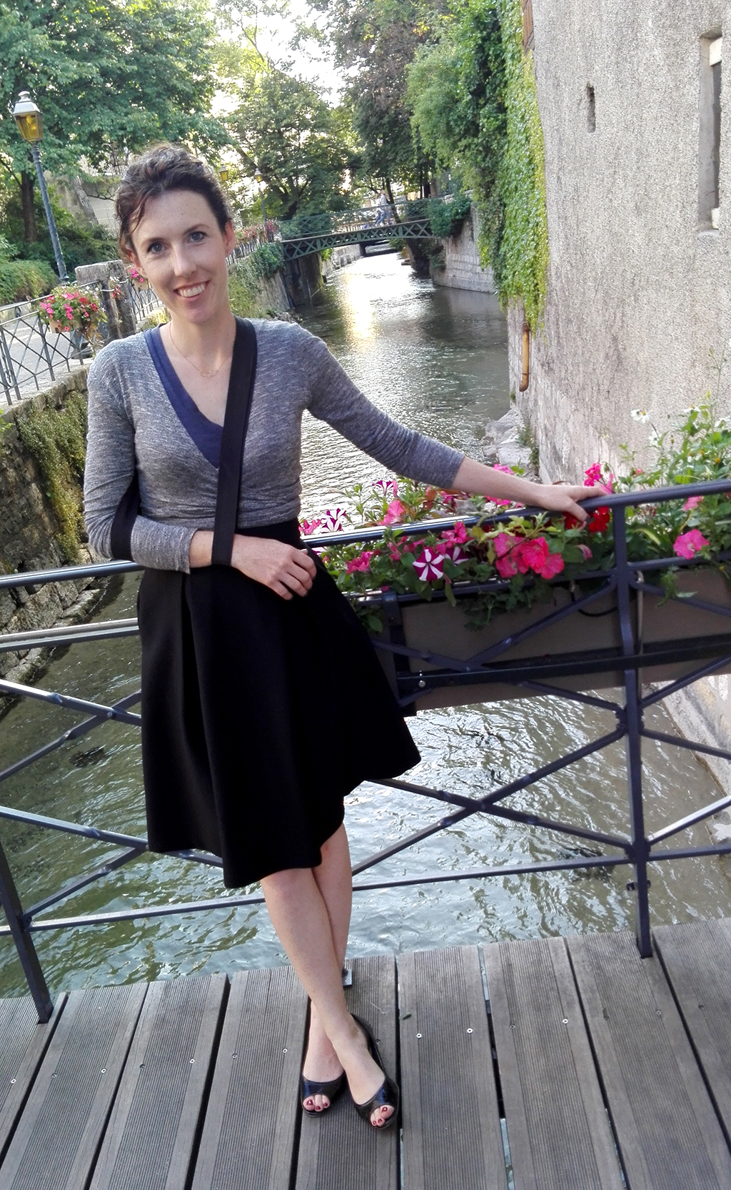 Wearing a sling in Annecy, France