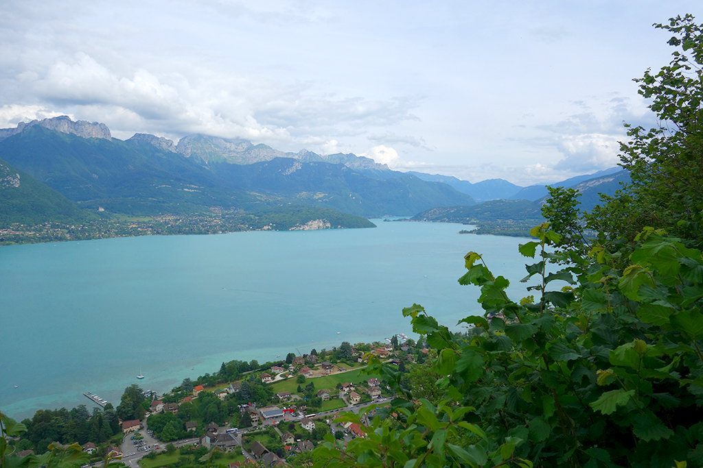 Hiking view of Annecy Lake