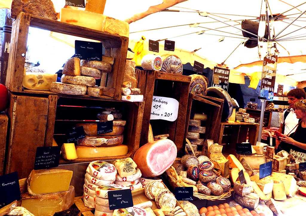 Buying cheese in Annecy