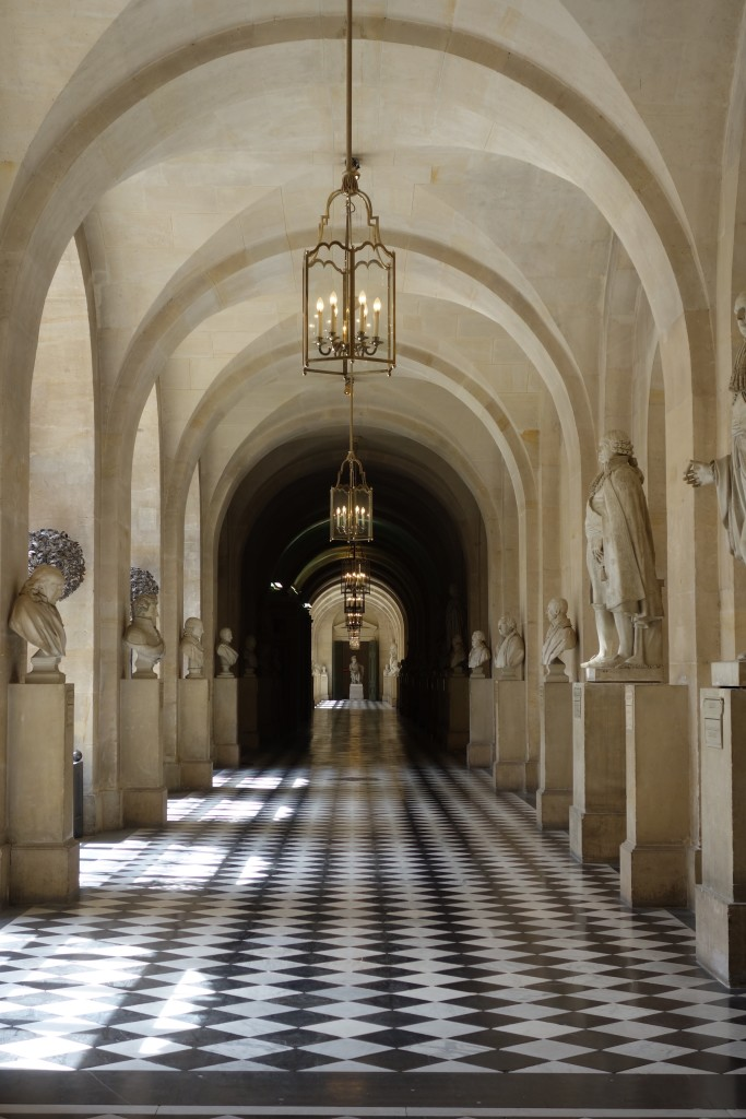 Versaille tiled hallway