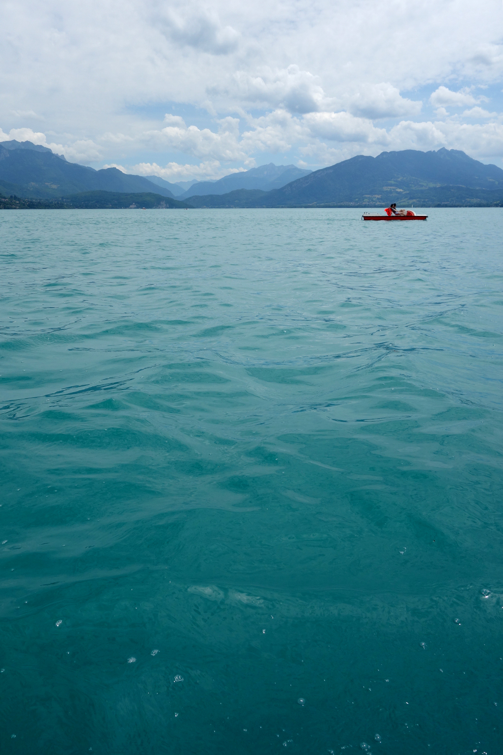 Pedalboats on Lake Annecy
