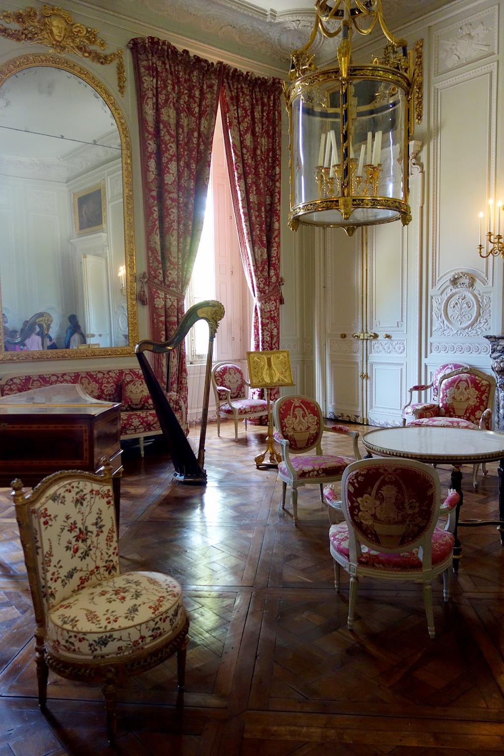 Harp in Antoinette's Parlor