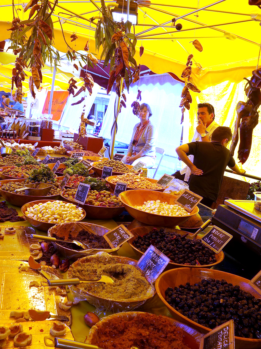 Olive vendor in Annecy
