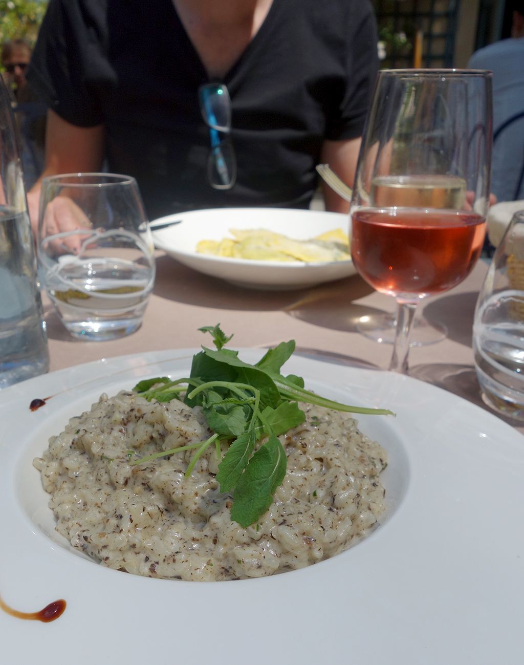 Truffle Risotto at Versailles for lunch