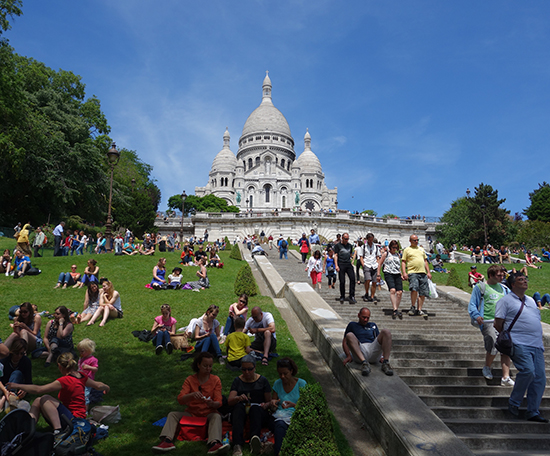 A view of Sacre Coeur on a June Sunday
