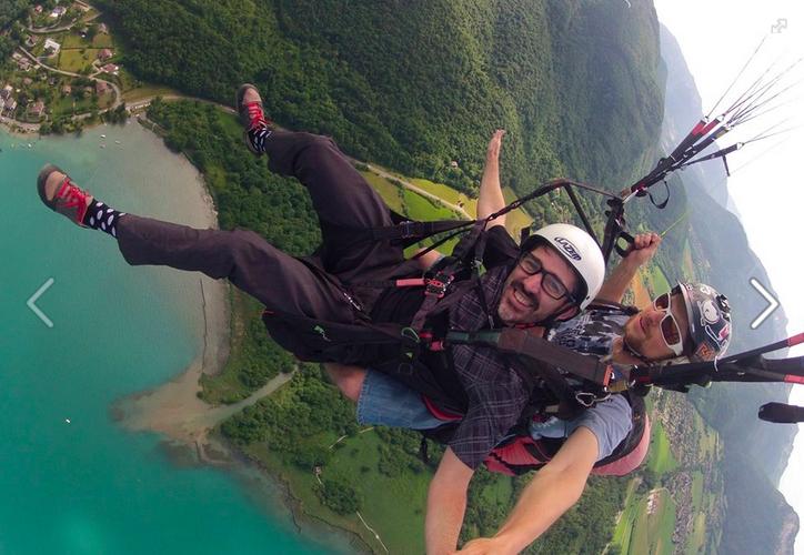 Paragliding Montmin, France