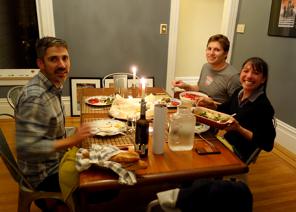 Monday night dinner with Chris and Mimi