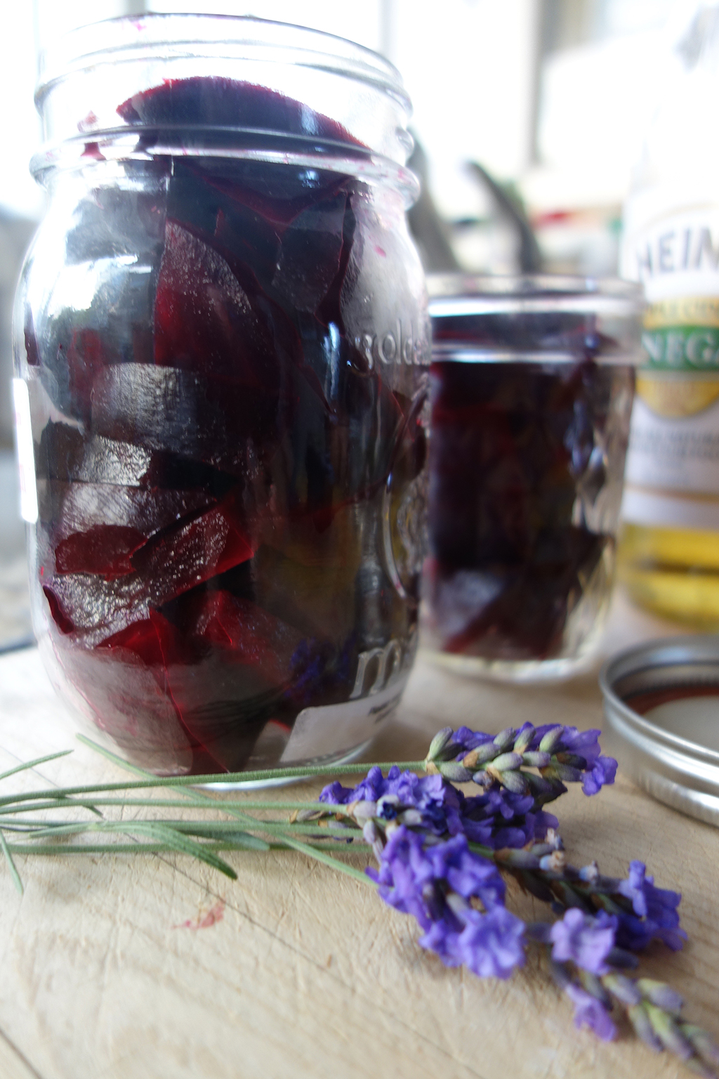 Lavender flowers for pickled beets