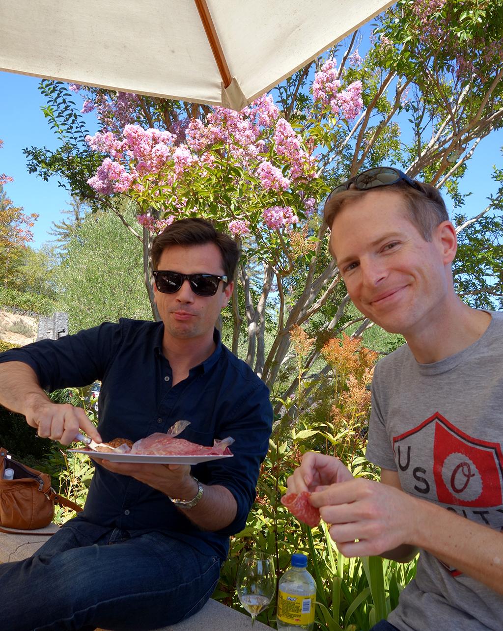 Marimar winery salami picnic