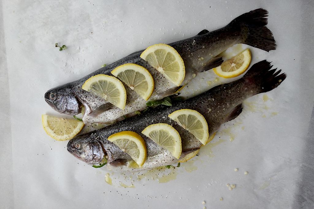 Parchment paper trout