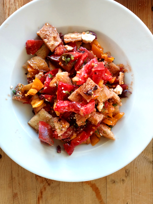 Bruschetta salad easy lunch recipe