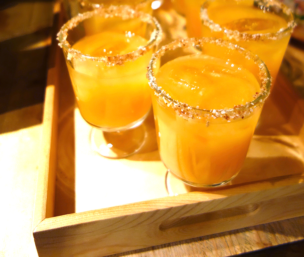 Persimmon Grapefruit Margaritas