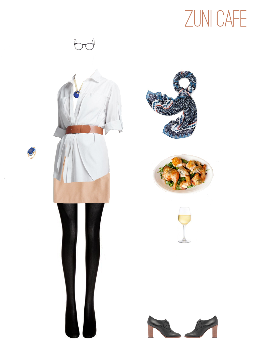 An outfit for lunch at Zuni Cafe