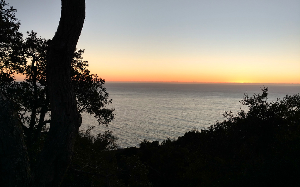 Sunset in December in Big Sur