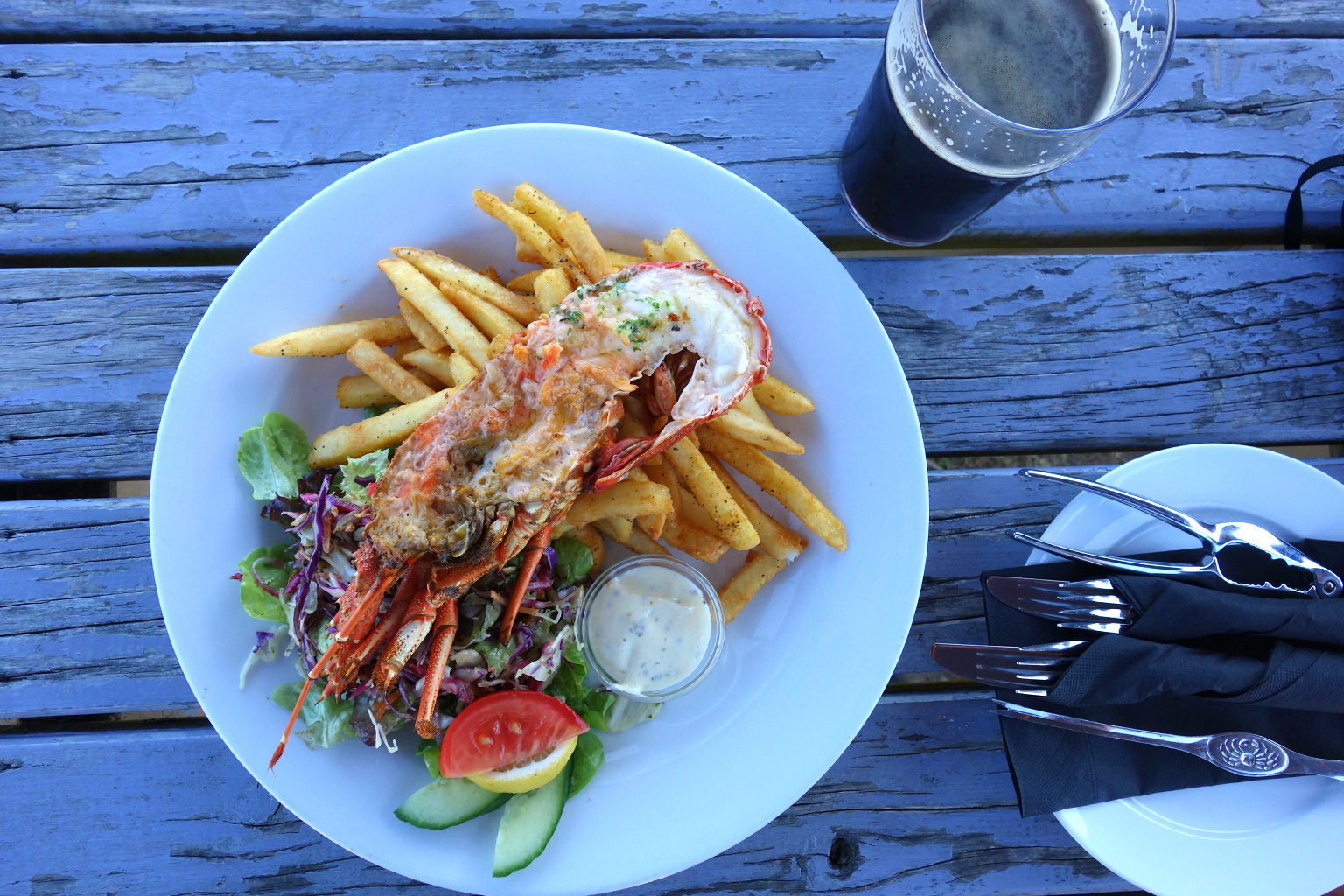 Pier Hotel Crayfish in Kaikoura, NZ