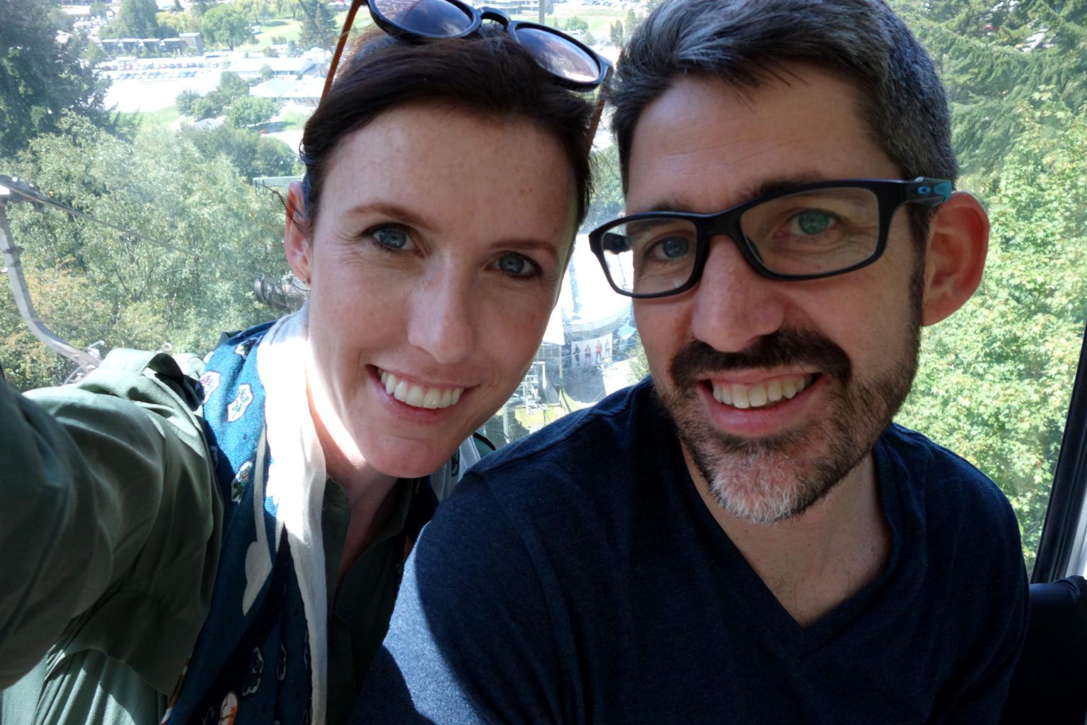 Taking the Skyline Gondola in NZ