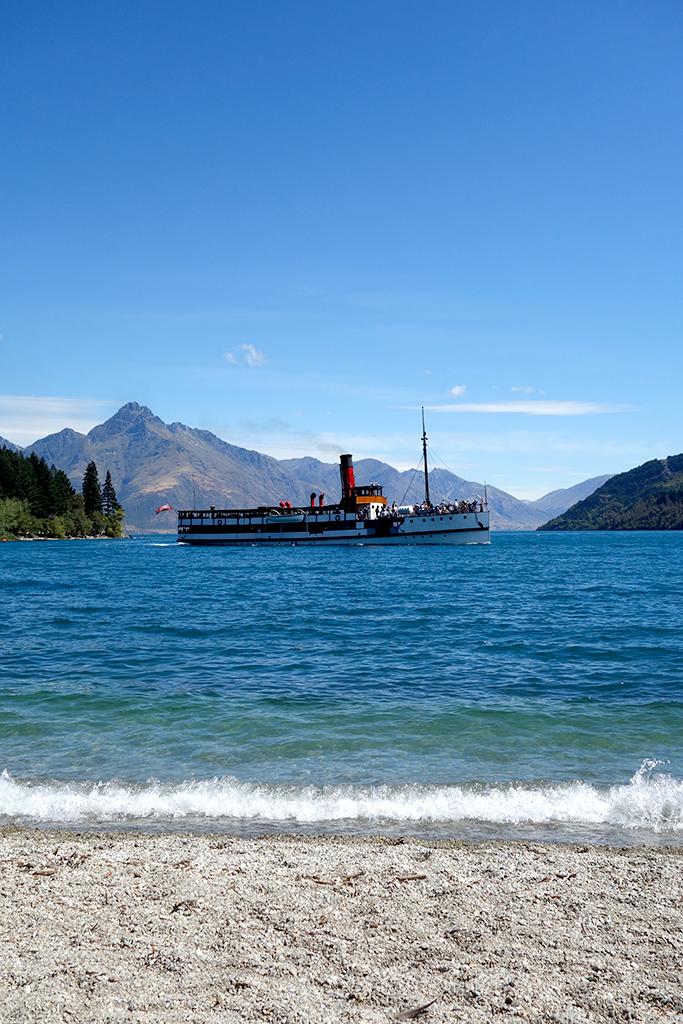 Historic boat ride Queenstown, NZ