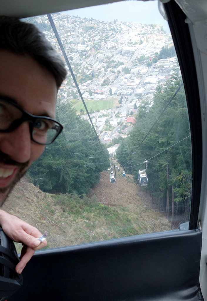 Steep gondola ride in Queenstown, NZ