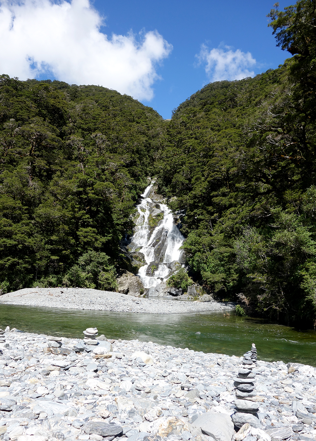 Ferntail Falls on Highway 6, NZ