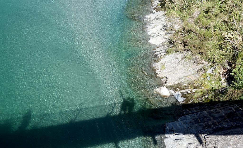 Bridge over blue pools, NZ