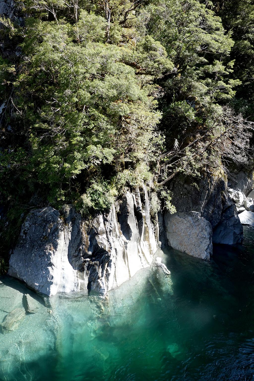 Blue Pool canyon, New Zealand