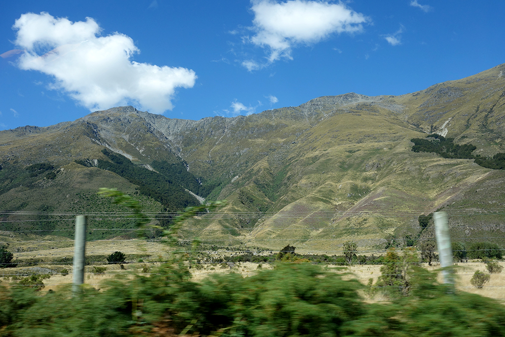 Driving to Queenstown, NZ