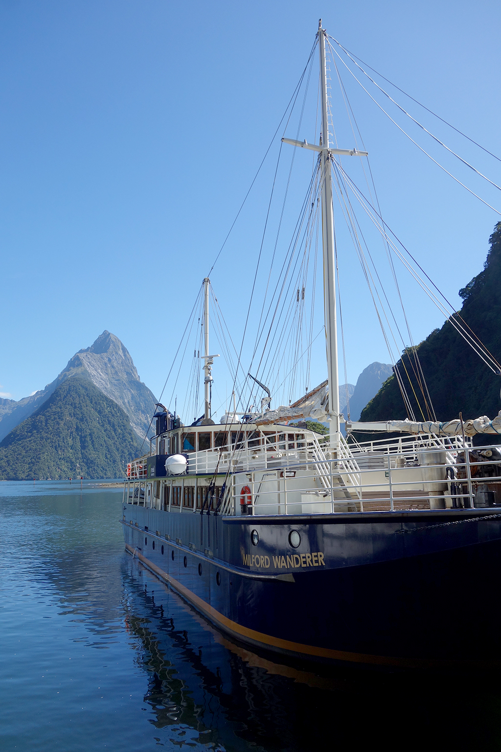 Boats on Milford Sound