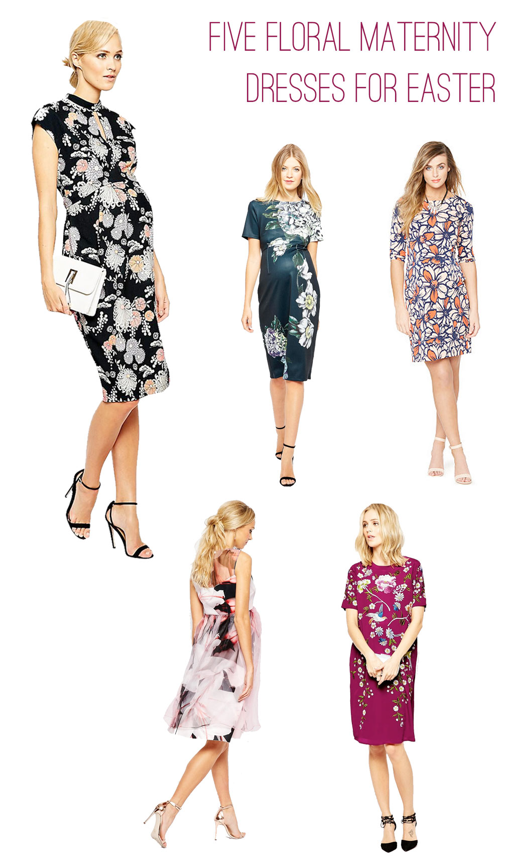 Stylish maternity dresses for Easter