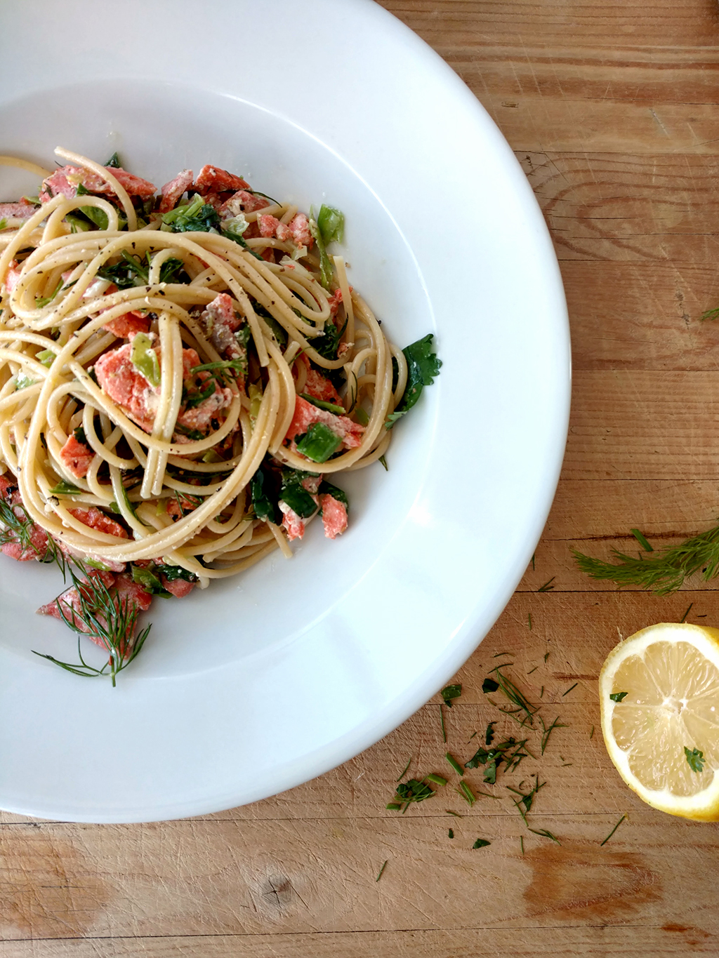 Salmon Pasta with Fresh Herbs