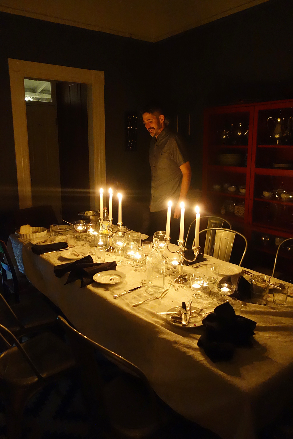 Candlelight dinner party