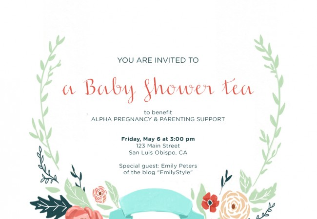 A Baby Shower Tea Party for Charity