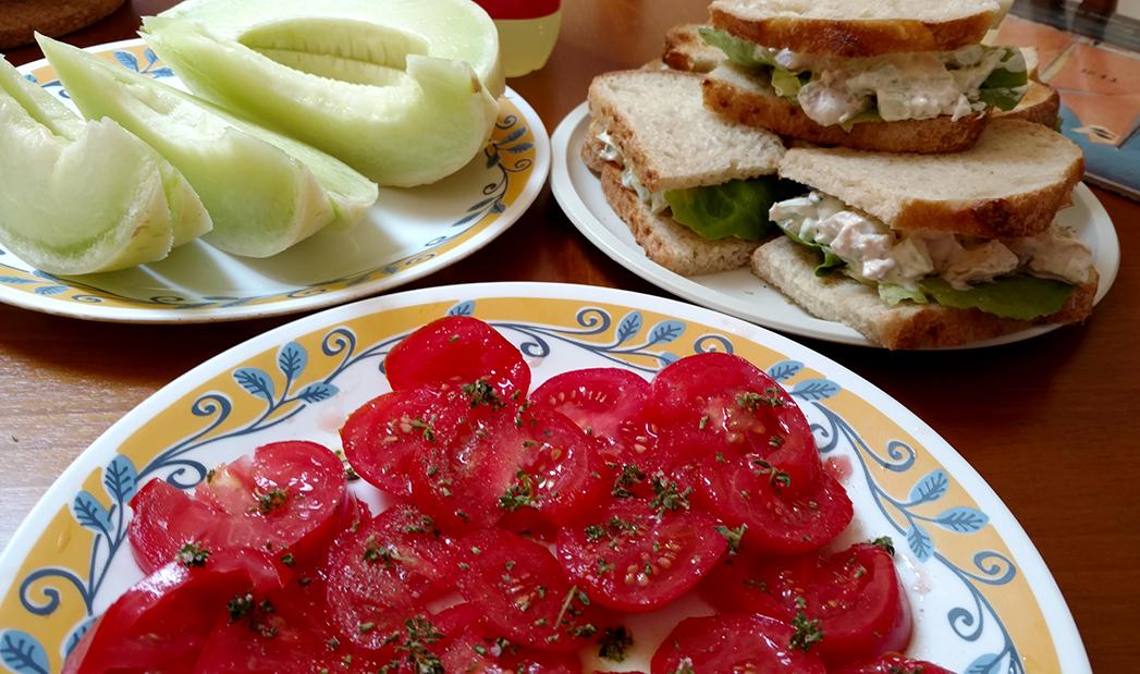 Beach house chicken salad sandwiches
