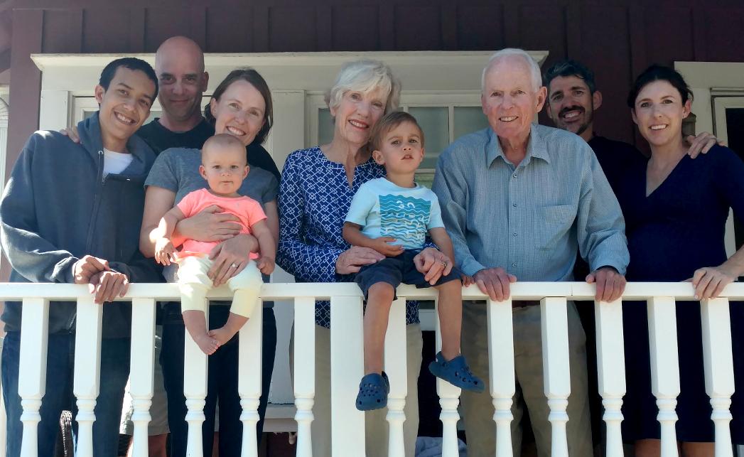 Beach house family photo