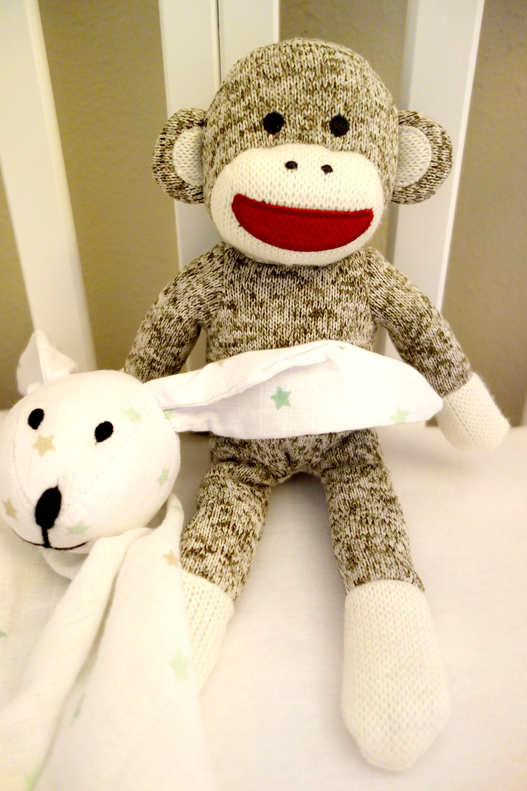 Rattle sock monkey
