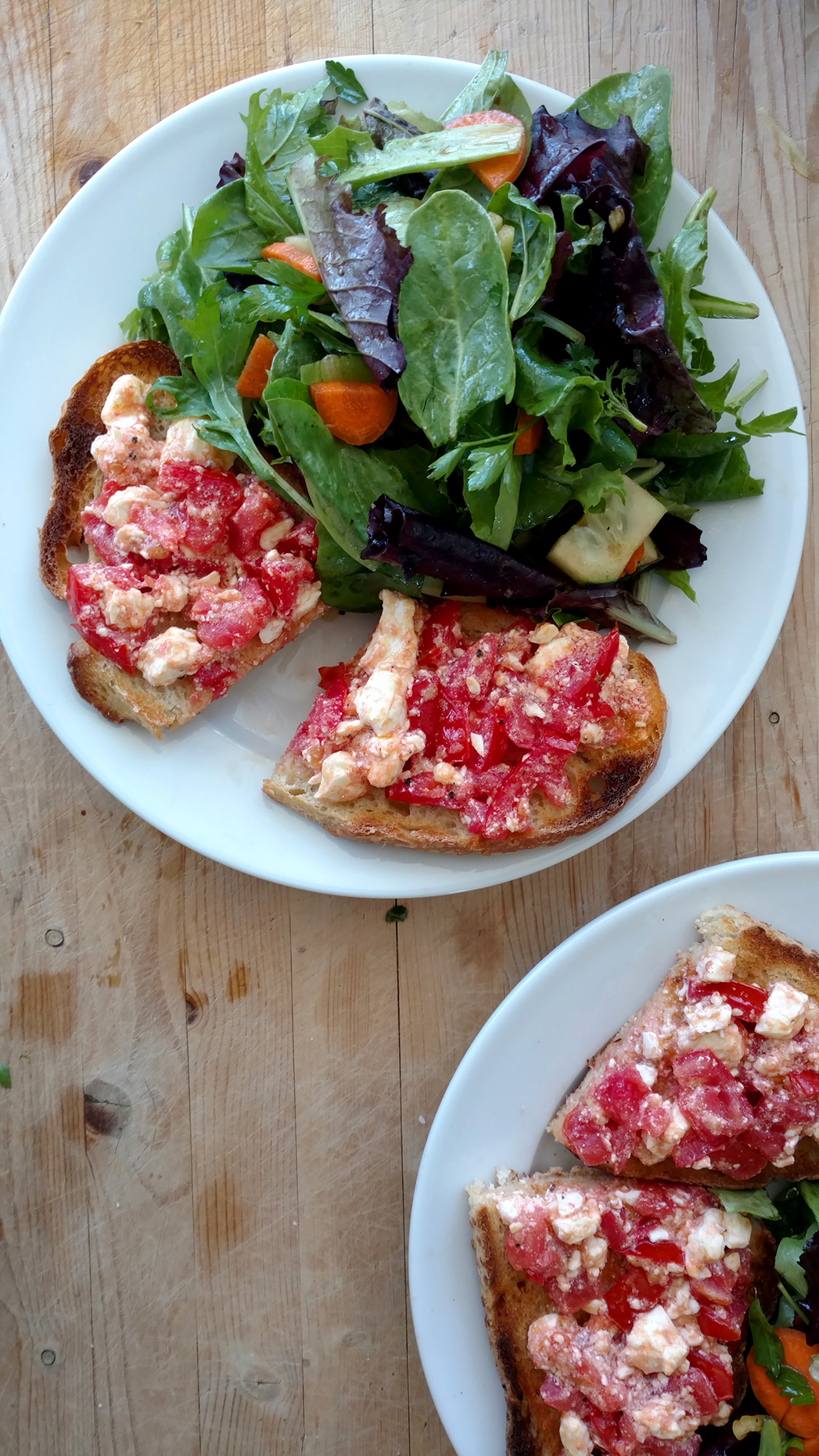 Open faced tomato sandwiches