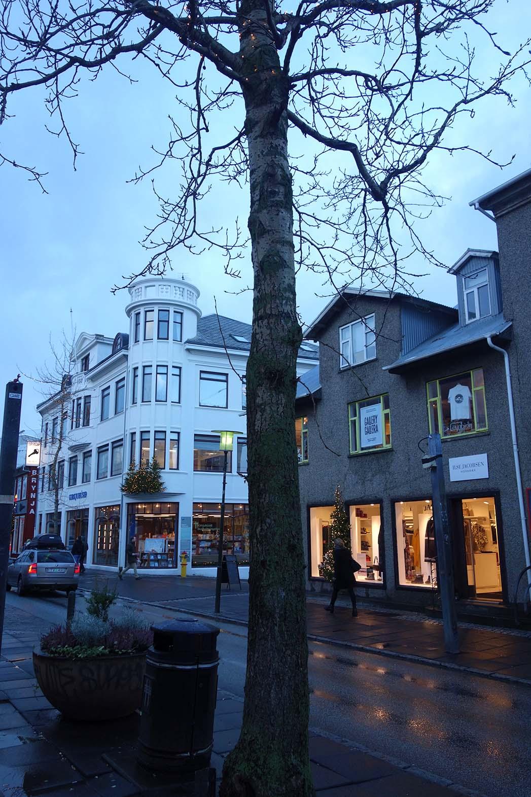 Downtown reykjavik in November