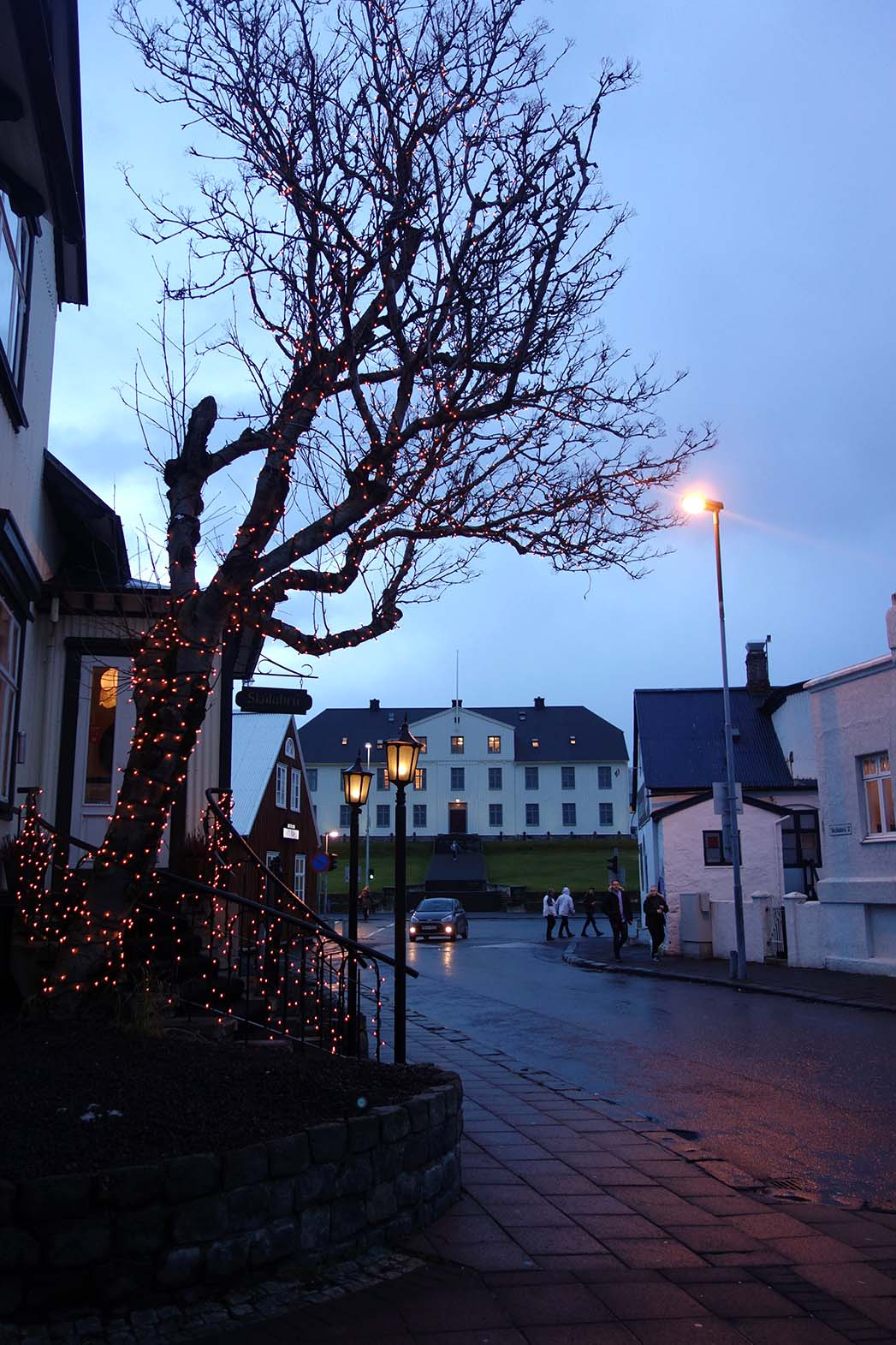 Downtown Iceland with a baby