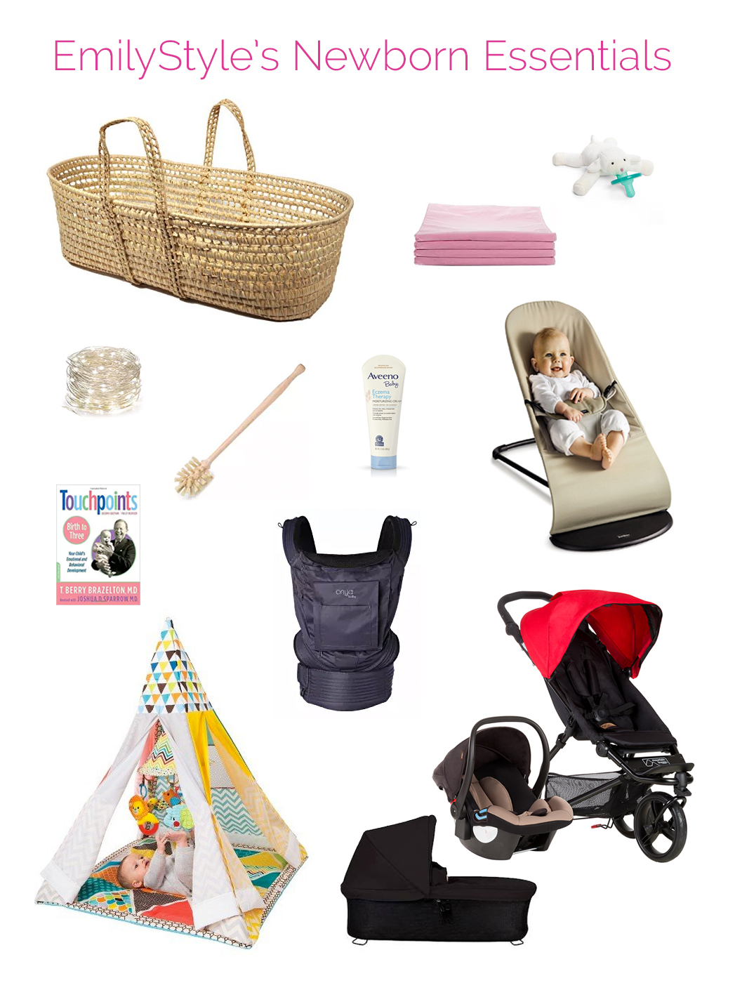 A pragmatic, tested set of newborn essentials